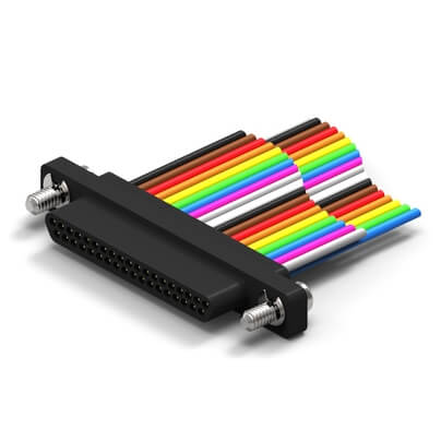 PP51-3S07-26M5-36.0 |  MicroD Wired - Low Profile - Plastic Shell